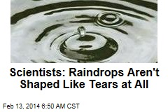 Raindrops aren't shaped like tears at all, study reveals