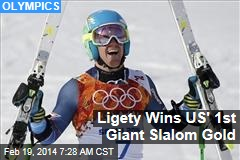 Ligety Wins US' 1st Giant Slalom Gold