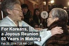 For Koreans, a Joyous Reunion 60 Years in Making