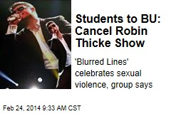 Students to BU: Cancel Robin Thicke Show