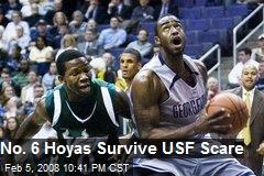 No. 6 Hoyas Survive USF Scare