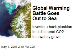 Global Warming Battle Goes Out to Sea