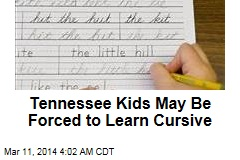 Tennessee Moves to Make Learning Cursive Mandatory