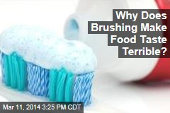 Why Does Brushing Make Food Taste Terrible?