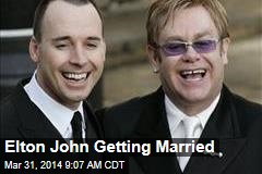 Elton John Getting Married