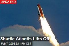 Shuttle Atlantis Lifts Off