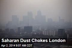 Saharan Dust Chokes London
