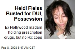 Heidi Fleiss Busted for DUI, Possession