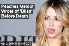 Peaches Geldof's Final Column: 'Right Now, Life Is Good'