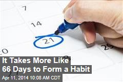 It Takes More Like 66 Days to Form a Habit