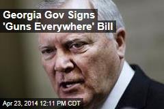 Georgia Gov Signs 'Guns Everywhere' Bill