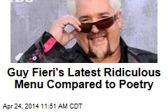 Guy Fieri's Latest Ridiculous Menu Compared to Poetry