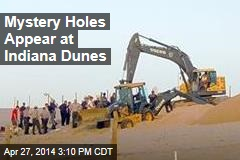Mystery Holes Appear at Indiana Dunes