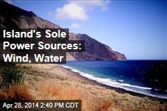 Island's Sole Power Sources: Wind, Water