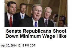 Senate Republicans Shoot Down Minimum Wage Hike