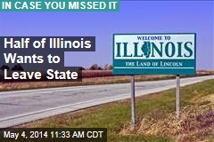 Half Those in Illinois Want to Leave State