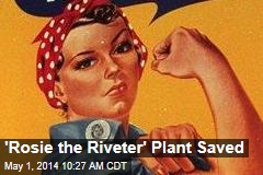'Rosie the Riveter' Plant Saved