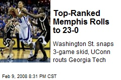Top-Ranked Memphis Rolls to 23-0