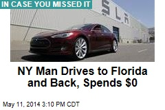 NY Man Drives to Florida and Back, Spends $0