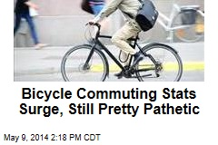 Bicycle Commuting Stats Surge, Still Pretty Pathetic