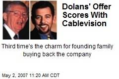 Dolans' Offer Scores With Cablevision