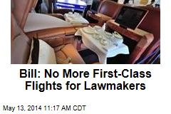 Bill: No More First-Class Flights for Lawmakers