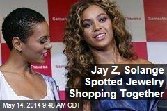Jay Z, Solange Spotted Jewelry Shopping Together