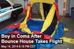 Boy Remains in Coma as Bounce House Flies Away