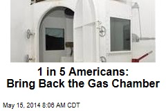 1 in 5 Americans: Bring Back the Gas Chamber