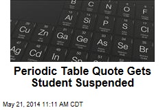 Periodic Table Quote Gets Student Suspended