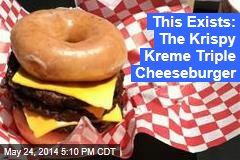 This Exists: The Krispy Kreme Triple Cheeseburger
