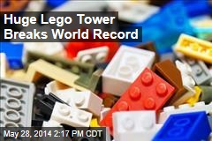 Huge Lego Tower Breaks World Record