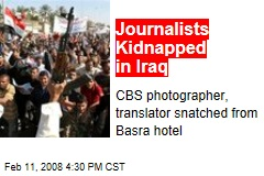 Journalists Kidnapped in Iraq