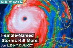 Sexism Makes Female-Named Storms Deadlier