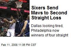 Sixers Send Mavs to Second Straight Loss