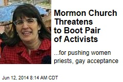 Mormon Church Threatens to Boot Pair of Activists
