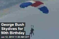 George Bush Skydives for 90th Birthday