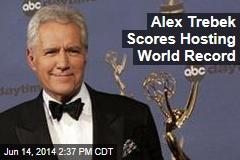 Alex Trebek Scores Hosting World Record