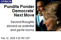 Pundits Ponder Democrats' Next Move