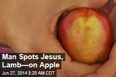 Man Spots Jesus, Lamb—on Apple