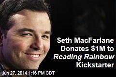 Seth MacFarlane Donates $1M to Reading Rainbow Kickstarter
