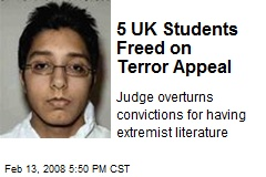 5 UK Students Freed on Terror Appeal