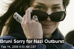 Bruni Sorry for Nazi Outburst