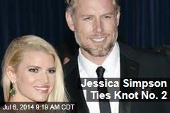 Jessica Simpson Ties Knot No. 2