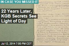 22 Years Later, KGB Secrets See Light of Day