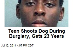 Teen Shoots Dog During Burglary, Gets 23 Years