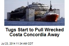 Tugs Start to Pull Wrecked Costa Concordia Away