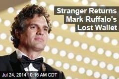 Stranger Returns Mark Ruffalo's Lost Wallet