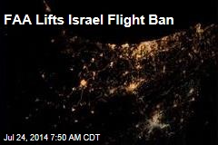FAA Lifts Israel Flight Ban