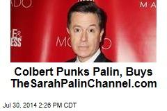 Colbert Punks Palin, Buys TheSarahPalinChannel.com